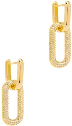 Fallon Firenze Crystal-embellished Gold-plated Hoop Earrings