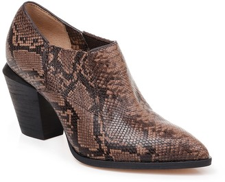 Splendid Hertha II Leather Snakeskin Embossed Ankle Bootie