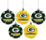 NFL 5pk Shatterproof Ball Ornaments