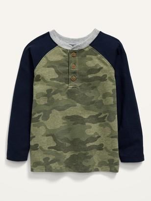 Old Navy Raglan-Sleeve Camo-Print Henley for Toddler Boys