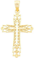 JCPenney FINE JEWELRY 14K Gold Filigree Cross Charm