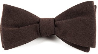 The Tie Bar Solid Wool Chocolate Brown Bow Tie