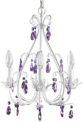 Firefly Home & Kids Lighting Sophia Chandelier Purple Crystal, 4-Lights