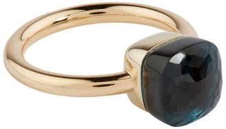 Pomellato Rose Gold and Topaz Nudo Petit Ring