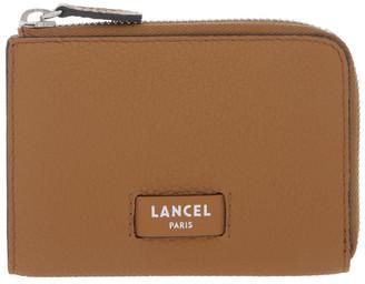 Lancel Ninon Zip-Top Wallet in Camel Brown