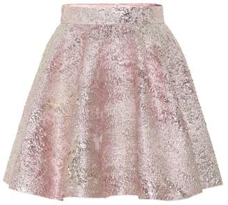 Dolce & Gabbana High-rise jacquard miniskirt