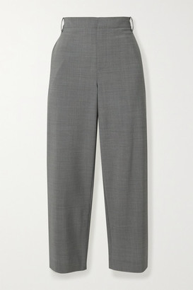 Tibi Cropped Woven Straight-leg Pants - Gray