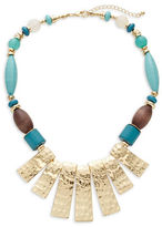 Expression Hammered Plate Statement Necklace