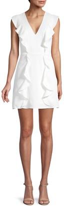 BCBGMAXAZRIA Eve Ruffle Mini Dress