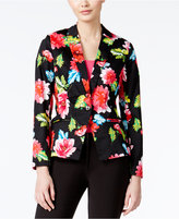 XOXO Juniors' Printed One-Button Blazer