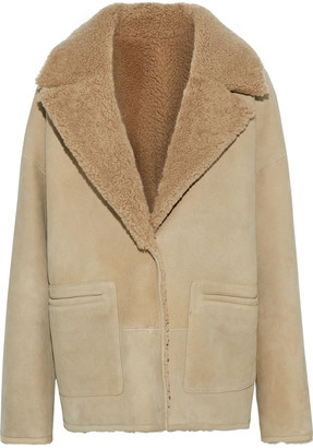 BA&SH Yellow Reversible Shearling Jacket
