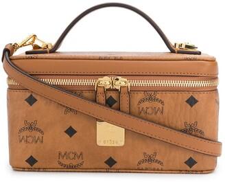 MCM Logo Print Box Tote Bag