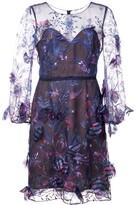 Marchesa embellished sheer dress