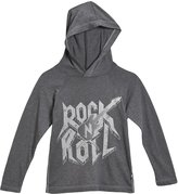 City Threads Rock & Roll Hooded Shirt (Baby) - Charcoal-6-9 Months