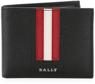 Bally Tevye Stripe Leather Bi-Fold Wallet