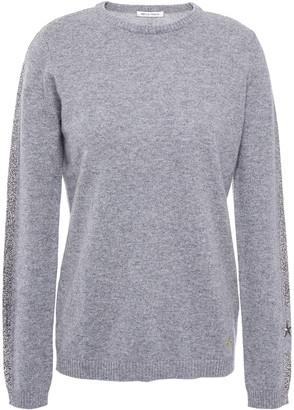 Bella Freud Metallic Striped Cashmere-blend Sweater