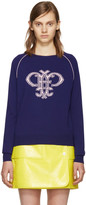 Emilio Pucci Purple Wool Logo Sweater