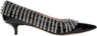 Christopher Kane Crystal-embellished Patent-leather Pumps