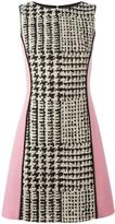 Fausto Puglisi panelled houndstooth dress - women - Silk/Cotton/Linen/Flax/Virgin Wool - 38