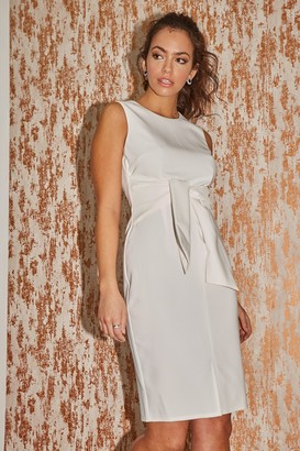 Paper Dolls Lincoln White Tie-Waist Pencil Dress