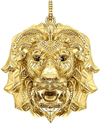 Thomas Sabo Africa yellow gold-plated vermeil silver lions head pendant