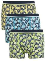 F&F 3 Pack Of Geometric Cube Print Hipsters With As New Technology