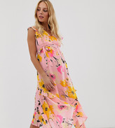 Mama Licious Mama.Licious Mamalicious maternity floral midaxi dress