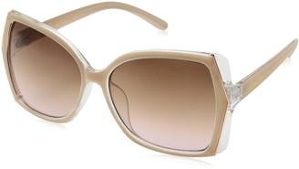 Nanette Nanette Lepore Women's NN213 Two-Tone Geometric Crystal Sunglasses with 100% UV Protection