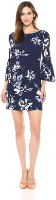 Eliza J Women's Size Bell Sleeve Floral Dress