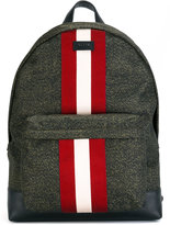 Bally contrast stripe backpack - men - Leather/Nylon - One Size