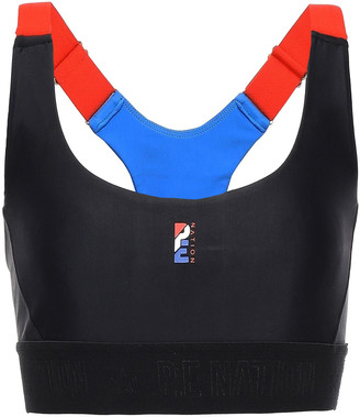 P.E Nation Color-block Stretch Sports Bra