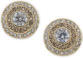 Lauren Ralph Lauren Gold-Tone Crystal Clip-On Stud Earrings