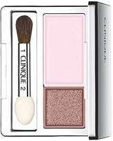 Clinique New Item ALL ABOUT SHADOW EYE SHADOW 0.07 OZ ALL ABOUT SHADOW DUO SEASHELL PINK/FAWN SATIN .07 OZ VIOLET AND TAN SHIMMER
