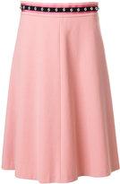 RED Valentino embellished waist flared skirt - women - Cotton/Polyester/Spandex/Elastane/Viscose - 40