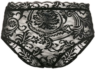 Versace Greca border lace briefs