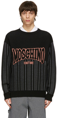 Moschino Black Fantasy Print Sweater