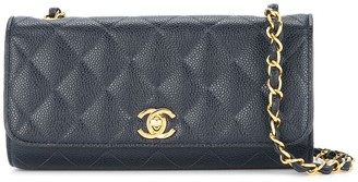 Chanel Pre Owned 1994-1996 Quilted CC single chain shoulder bag