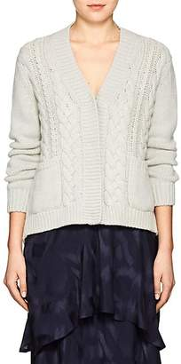 Barneys New York Women's Cable-Knit Cashmere Cardigan - Light Gray