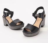 Clarks Leather Wedge Sandals - Maritsa Janna