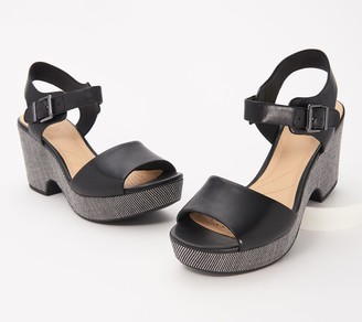 Clarks Leather Wedge Sandals - Maritsa Janna
