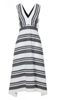 Tibi Organza Stripe Jacquard Dress