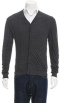 Calvin Klein Collection V-Neck Rib Knit-Trimmed Cardigan