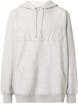 CK Calvin Klein brand embossed hoodie