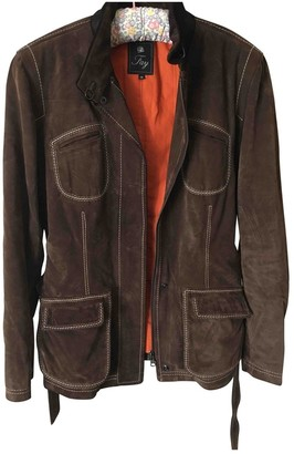 Fay Brown Suede Coat for Women
