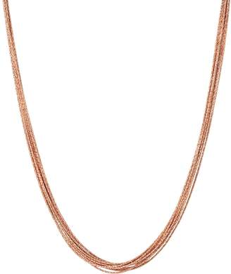 Links of London Rose Gold Vermeil Silk 10 Row Necklace