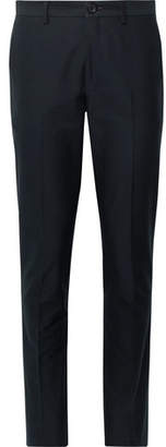 Paul Smith Midnight-Blue Slim-Fit Cotton-Blend Faille Trousers