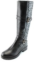 Gerry Weber Jale 02 Women Round Toe Leather Black Knee High Boot.