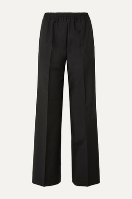 Acne Studios Pammy Wool And Mohair-blend Wide-leg Pants - Black