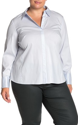 Lafayette 148 New York Chiara Blouse (Plus Size)