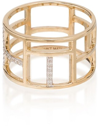 Mateo 14kt yellow gold Tralis diamond ring